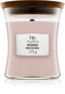 Woodwick Rosewood mirisna svijeća s drvenim fitiljem