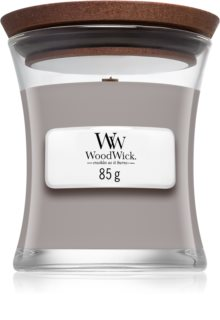Woodwick Suede & Sandalwood duftlys