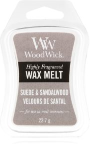 Woodwick Suede & Sandalwood vosk do aromalampy