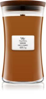 Woodwick Humidor vela perfumada com pavio de madeira