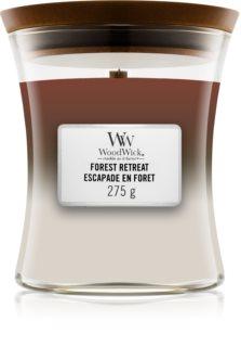 Woodwick Trilogy Forest Retreat ароматна свещ  с дървен фитил