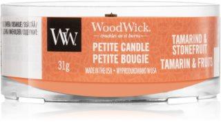 Woodwick Tamarind & Stonefruit вотивна свічка з дерев'яним гнітом