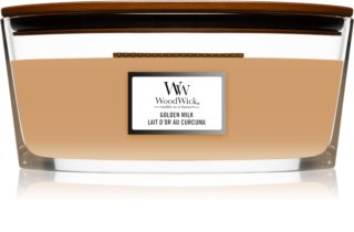 Woodwick Golden Milk vonná svíčka s dřevěným knotem (hearthwick)