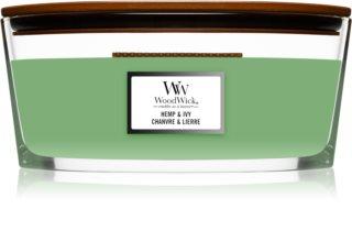 Woodwick Hemp & Ivy  duftkerze  mit holzdocht (hearthwick) 453,6 g