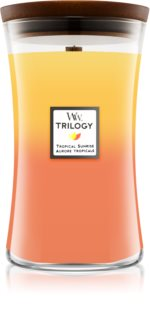 Woodwick Trilogy Tropical Sunrise duftkerze  mit Holzdocht
