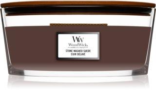 Woodwick Stone Washed Suede bougie parfumée avec mèche en bois (hearthwick)