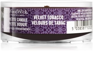 Woodwick Velvet Tobacco votive candle