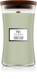 Woodwick Lavender & Cedar vonná svíčka