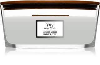 Woodwick Lavender & Cedar Duftkerze mit holzdocht (hearthwick)