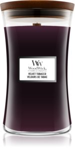 Woodwick Velvet Tobacco scented candle Wooden Wick