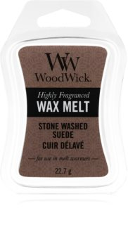 Woodwick Stone Washed Suede tartelette en cire
