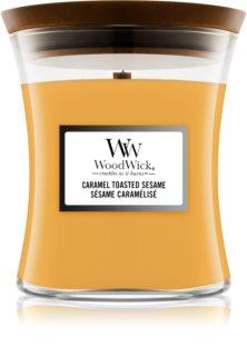 Woodwick Caramel Toasted Sesame duftlys Trævæge