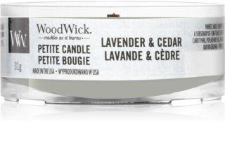 Woodwick Lavender & Cedar vela votiva