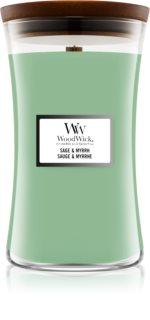 Woodwick Sage & Myrrh Duftkerze mit Holzdocht