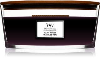 Woodwick Velvet Tobacco Duftkerze mit holzdocht (hearthwick)