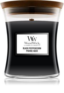 Woodwick Black Peppercorn ароматна свещ  с дървен фитил