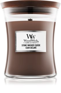 Woodwick Stone Washed Suede ароматна свещ