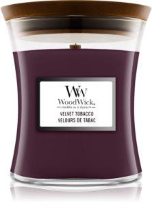 Woodwick Velvet Tobacco Duftkerze mit Holzdocht