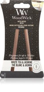 Woodwick White Tea & Jasmine vůně do auta náhradní náplň