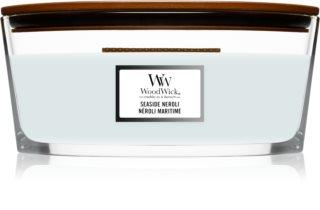 Woodwick Seaside Neroli aроматична свічка з дерев'яним гнітом (hearthwick)