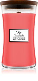 Woodwick Melon & Pink Quarz bougie parfumée avec mèche en bois