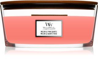 Woodwick Melon & Pink Quarz bougie parfumée avec mèche en bois (hearthwick)
