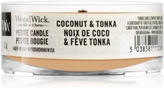 Woodwick Coconut & Tonka вотивна свещ с дървен фитил