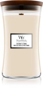 Woodwick Coconut & Tonka duftlys Trævæge