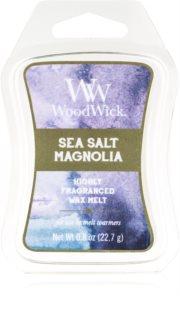 Woodwick Sea Salt Magnolia cera per lampada aromatica Artisan
