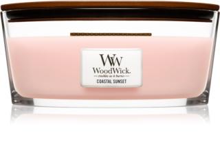 Woodwick Coastal Sunset aроматична свічка з дерев'яним гнітом (hearthwick)