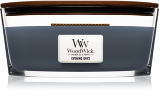 Woodwick Evening Onyx scented candle wooden wick (hearthwick)