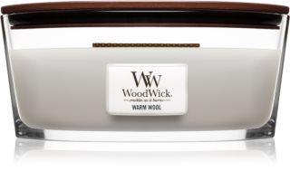 Woodwick Warm Wool illatos gyertya  fa kanóccal (hearthwick)