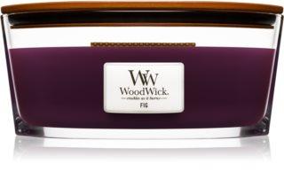 Woodwick Fig vela perfumada com pavio de madeira (hearthwick)