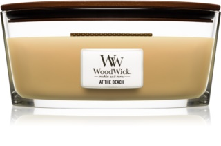 Woodwick At The Beach candela profumata con stoppino in legno (hearthwick)