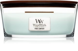 Woodwick Pure Comfort mirisna svijeća s drvenim fitiljem (hearthwick)