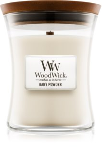 Woodwick Baby Powder scented candle Wooden Wick
