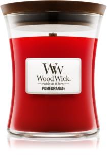 Woodwick Pomegranate lumânare parfumată  cu fitil din lemn
