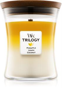 Woodwick Trilogy Fruits of Summer aроматична свічка середня