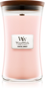 Woodwick Coastal Sunset candela profumata con stoppino in legno