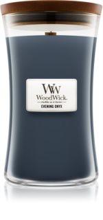 Woodwick Evening Onyx αρωματικό κερί με ξύλινο φιτίλι