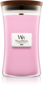 Woodwick Rose scented candle Wooden Wick