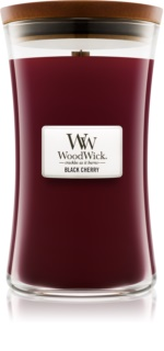 Woodwick Black Cherry scented candle Wooden Wick
