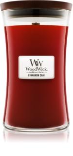 Woodwick Cinnamon Chai bougie parfumée avec mèche en bois