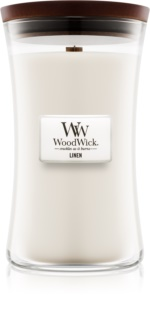 Woodwick Linen scented candle Wooden Wick