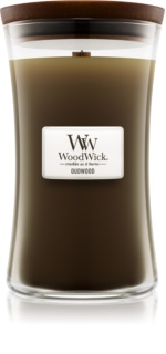 Woodwick Oudwood candela profumata con stoppino in legno