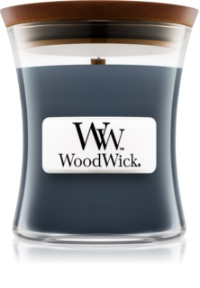 Woodwick Evening Onyx bougie parfumée avec mèche en bois