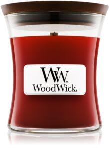 Woodwick Cinnamon Chai vela perfumada com pavio de madeira