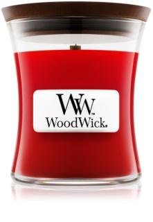 Woodwick Pomegranate aроматична свічка з дерев'яним гнітом
