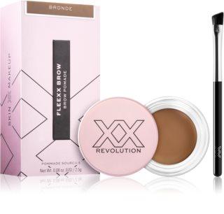 XX by Revolution FLEXX BROW gel de sprancene de lungă durată cu pensula