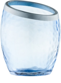 Yankee Candle Pearlescent Crackle porta-candele votive in vetro Blue